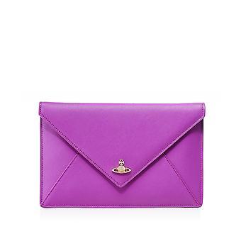 Pochette Westwood Accessoires Sac d'embrayage Victoria en cuir Saffiano