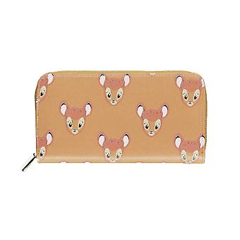 Disney Bambi Face AOP Zip Around Clutch Purse