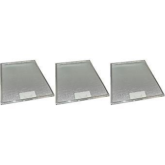 3 x Universal Cooker Hood Metal Grease Filter 283mm x 380mm