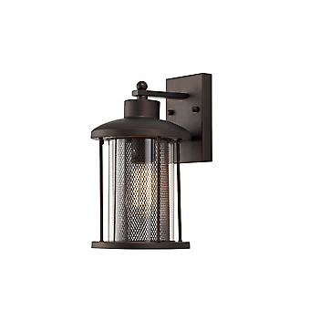 Ophelia Large Wall Lamp, 1 X E27, Antique Bronze/clear Glass, Ip54, 2yrs Warranty