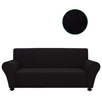 Sofa husse sofa cover Stretchhusse Black Polyester Jersey