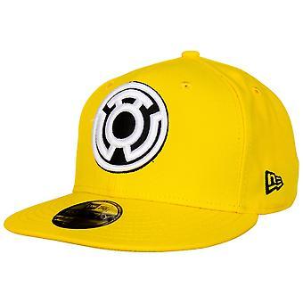 Gelbe Laterne Sinestro Corp Farbe Block neue Ära 59Fifty montiert Hut