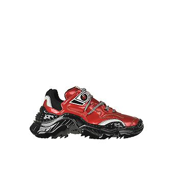 N°21 Ezgl068240 Dames's Red Leather Sneakers