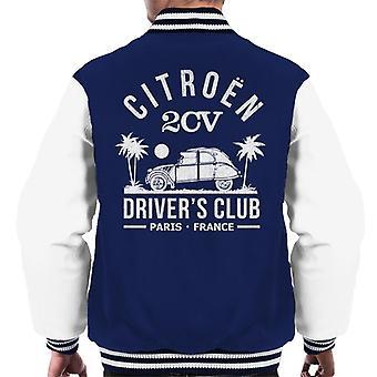 Citro?n 2CV Driver's Club White Beach Men's Varsity Jacket