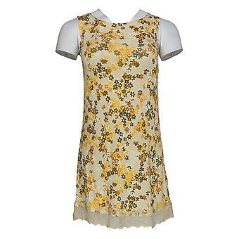 LOGO Layers Par Lori Goldstein Women-apos;s Top W/ Lace Hem Yellow A346419