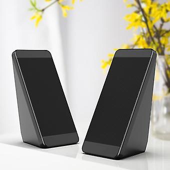 Haut-parleurs usb d'ordinateur câblé, klaxons d'angle d'élévation de PC pour le téléphone portable de bureau