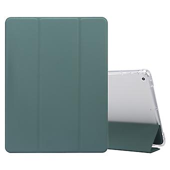 Für iPad 9.7(2018)/(2017)/Air 2/Air 3-faltig Electric Pressed Skin Texture Horizontal Flip Shockproof Transparent TPU + PU Ledertasche mit Halter &