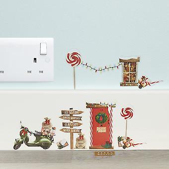 Kerst Elf muur Stickers - Elf Ideas - 14 Stickers Resuseable