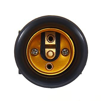 Fireproof Ac100-240v E27 Bulb Adapter Lamp Holder Base Socket With Eu Plug
