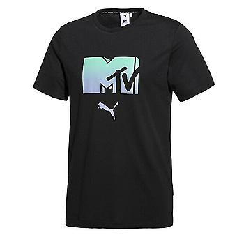 Puma x MTV Miesten T-paita Graafinen Ombre Logo Musta Top 579813 01