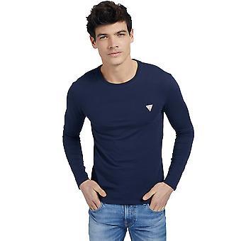Guess L/S Super Slim T-Shirt - Marine