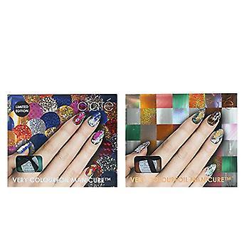 Ciate Colourfoil Nail Gift Set 13.5ml Kaleidoscope Klash Nail Polish + 13.5ml Wonderland Nail Polish + 2 x 5ml Foil Fix + Foils