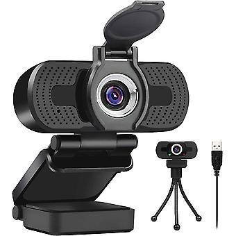 LarmTek USB Webcam 1080p with Cover,Webcam for Pc,Desktop,Laptop,Streaming Webcam Built in Mic