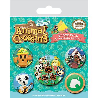 Animal Crossing Islander -merkkisetti (5 kpl pakkaus)