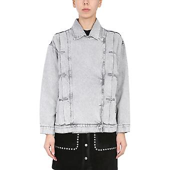 Iro Wp08noumigry1921s Women's Grey Cotton Outerwear Jacket