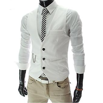 Dress Vests, Slim Fit, Suit Vest, Male Waistcoat, Casual Sleevelessmal