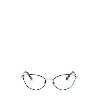 Miu Miu MU 51SV de oro pálido / gafas femeninas bordeaux