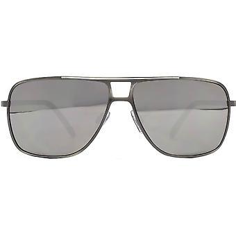 Französische Verbindung Quadrat Sonnenbrille - Gunmetal Grau