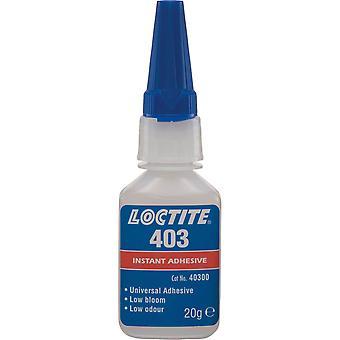 Loctite 1919337 403 Instant Adhesive - Low Bloom Low Odour Medium Viscosity 20g
