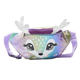 Lovely Deer Waist Bag, Women Kids Laser Pu Leather Shoulder Messenger Bags