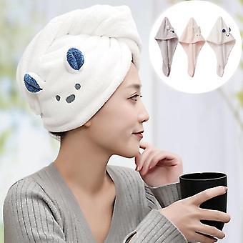 Girl's Super Absorption Turban Hair Drying Towel Quick-dry Cartoon Koala