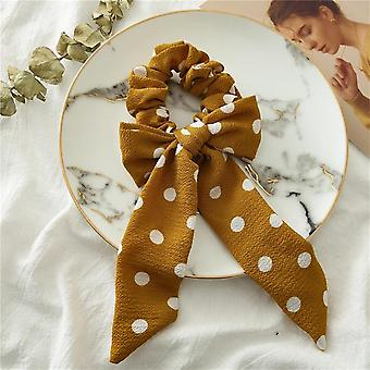 Naiset Kukka Paina Bow Scrunchies Ponytail Headband