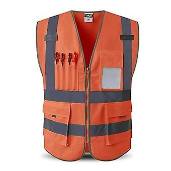 High Reflect Visibility Utility Safety Vest Mesh Breathable Work Gilet