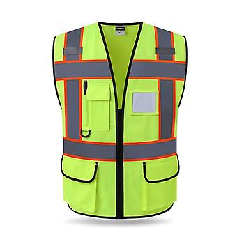 High Visibility Utility Safety Vest Mesh Breathable Work Gilet Reflective