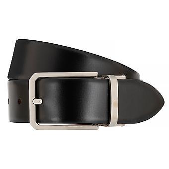 Correa correas de hombres LLOYD cinturones de cuero correa de cinturón negro/Cognac 7081