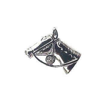 Pferd Kopf Zinn Revers Pin
