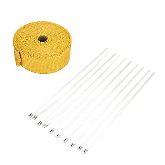 10Mファイバーグラスラップ排気熱ロール耐久摩耗性シールドテープ絶縁パイプ