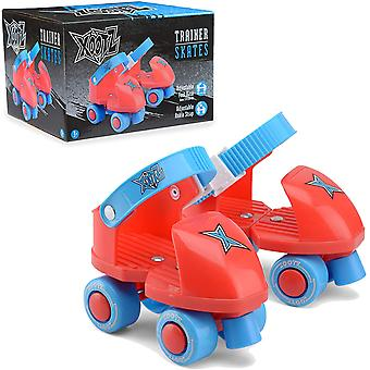 Xootz Beginner Trainer Skates My First 4 Wheel Quad Roller Skates for Kids Boys and Girls UK Size 5-11