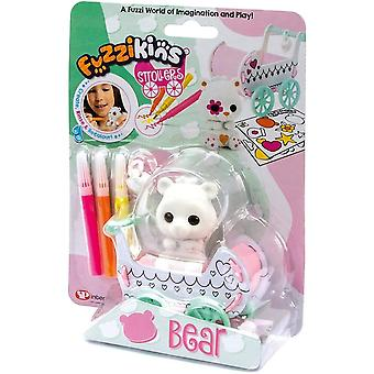Fuzzikins fuzzi baby bear and decorate their stroller and toy, for age 4 years