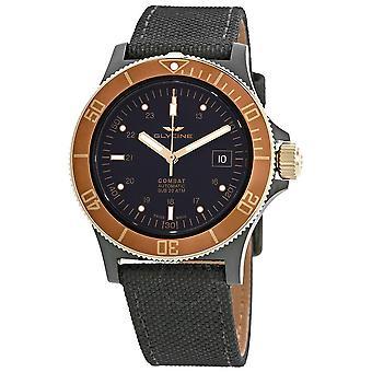 Glycine Combat Sub Automatic Black Dial Men's Nylon Watch GL0093