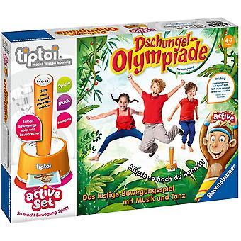 Wokex tiptoi Spiel 00849 - aktives Set Dschungel-Olympiade - Bewegungsspiel ab 4 Jahre fr 1 -6
