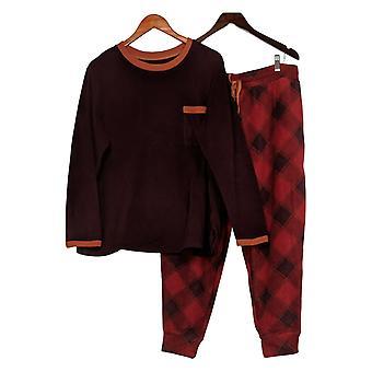 Cuddl Duds Petite Set Fleecewear Jogger Pyjama Rood A381826