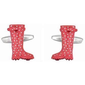 Zennor Welly Boot Cufflinks - Vaaleanpunainen/Valkoinen