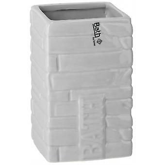 bath cup 300 ml 7 x 12 cm ceramic white