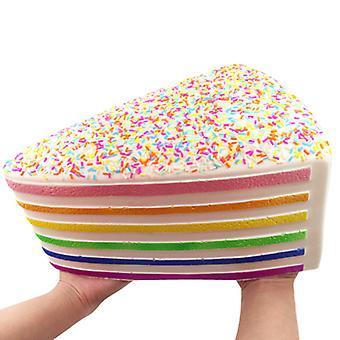 Copoz Oversized Rainbow cake Squishy Slow rebound Decompression toys ?for kids,adult
