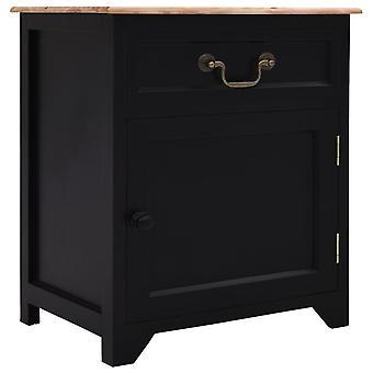 vidaXL nattbord svart og brun 40×30×50 cm Paulownia Wood