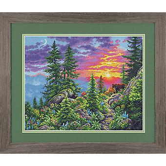 Dimensions Counted Cross Stitch Kit: Sunset Mountain Trail