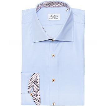 Stenstroms Slimline Geo Trim Houndstooth Shirt