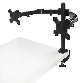 Ms02 Desktop Clamping Full Motion 360-degree Dual Monitor Holder Stand