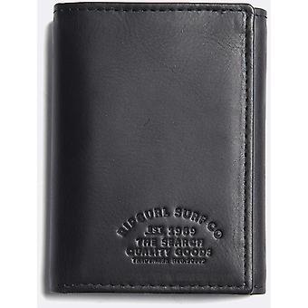 Rip Curl Vertical RFID todo el día cartera de cuero en negro