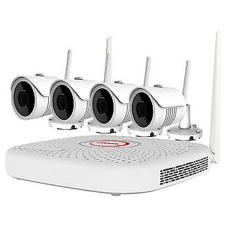 PNI בית WiFi735 ערכת מעקב וידאו NVR ו 4 5MP מצלמות אלחוטיות חיצוניות, ONVIF, IP67