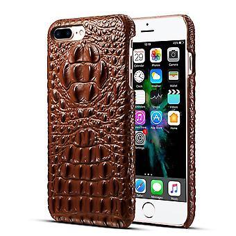 ekte lær lommebok tilfelle kortspor for iPhone x / xs brun på309