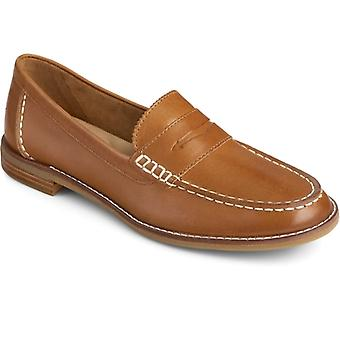 Sperry Seaport Penny Ladies Leather Loafers Tan