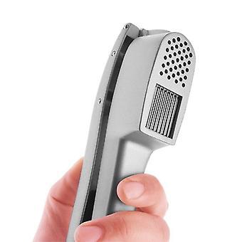 Garlic Press 2 in 1, Aluminum Garlic Mincer Slicer Crusher with Ergonomic Handle Cooking Tools