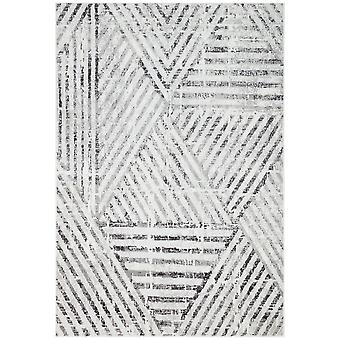 Bazaro Modern Geometric Rugs By Concept Loom Baz09 In Natural Grey