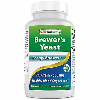 Best Naturals Brewer's Yeast, 1000 mg, 240 Tabs